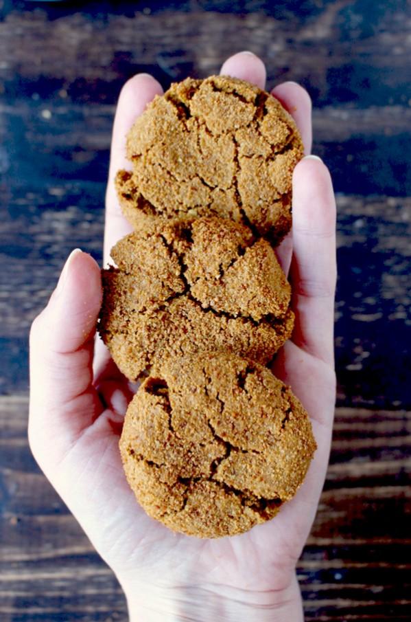 Paleo Gingersnaps (Gluten Free, Dairy Free, Refined Sugar Free)