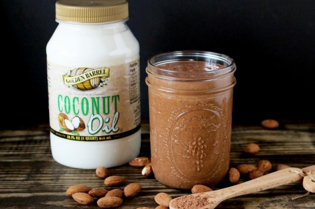 Chocolate Nut Butter made with Golden Barrel Coconut Oil