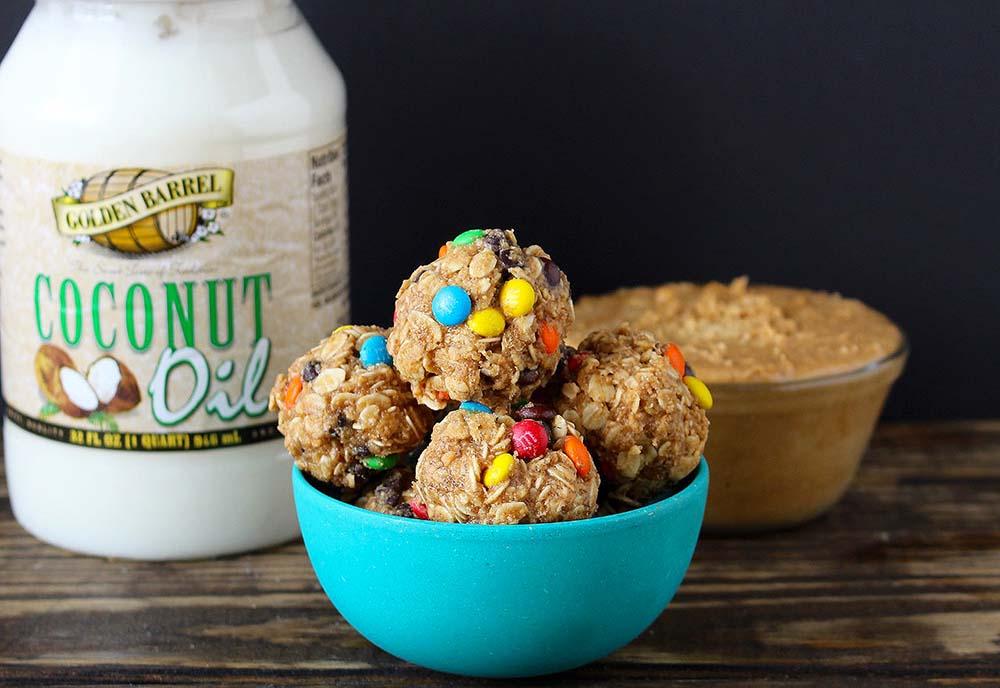Peanut Butter Oatmeal Balls - Golden Barrel