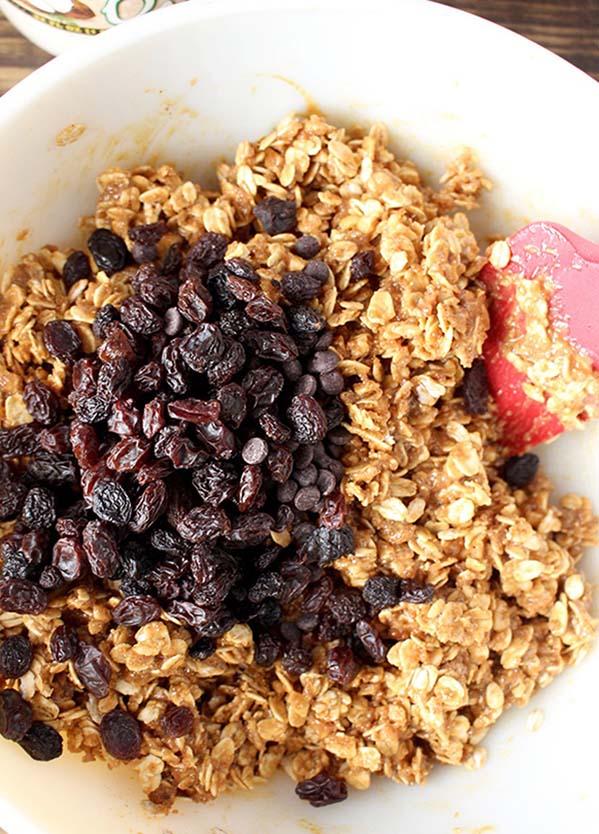 Oatmeal and Raisins to make Peanut Butter Oatmeal Balls