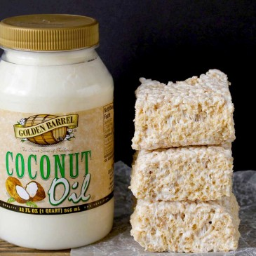 Coconut Oil Rice Crispy Treats