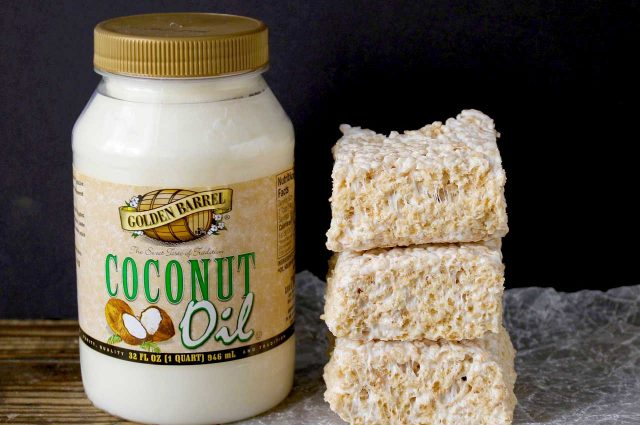 Coconut Oil Rice Crispy Treats - Golden Barrel Recipe