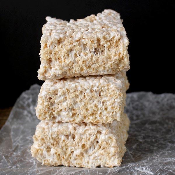 Coconut Oil Rice Crispy Treats Golden