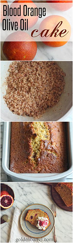 Blood Orange Olive Oil Cake - Golden Barrel