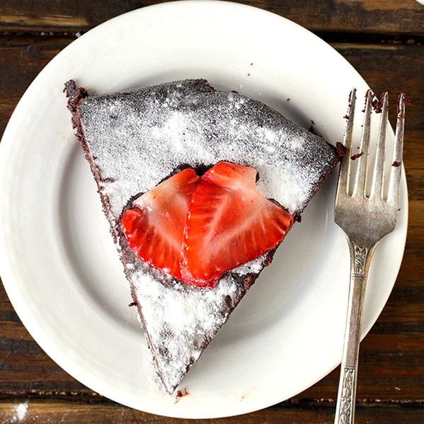 Piece of Flourless Chocolate Cake