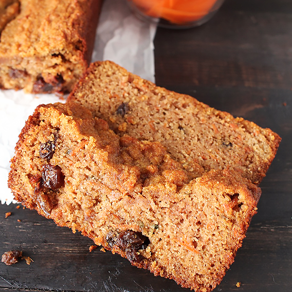 Slice of Paleo Carrot Cake Bread