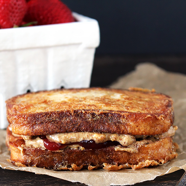 French Toast Peanut Butter and Jelly Sandwich