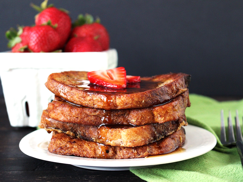 Strawberries and Coconut Oil French Toast
