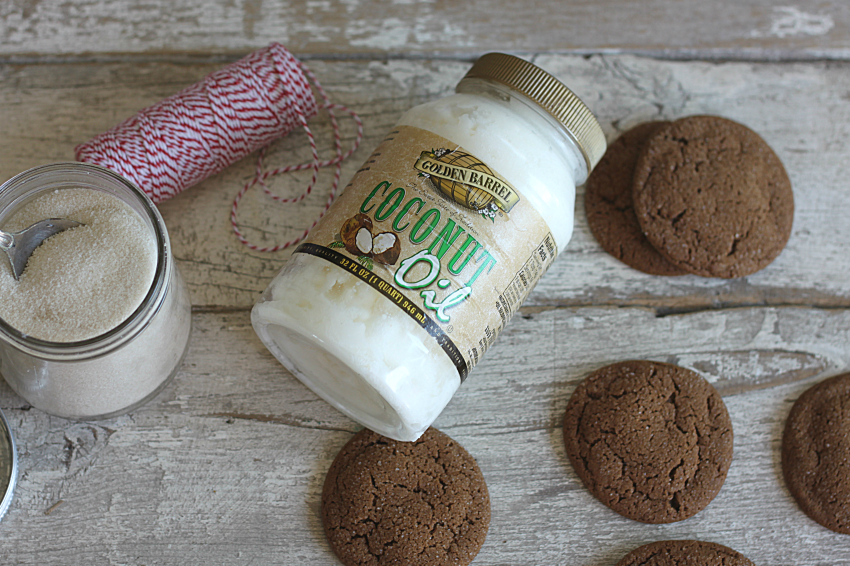 Molasses Cookies made with Golden Barrel Coconut Oil