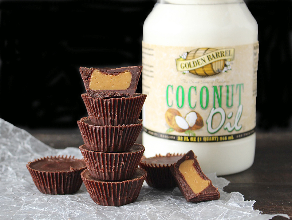 Golden Barrel Coconut Oil Homemade Peanut Butter Cups