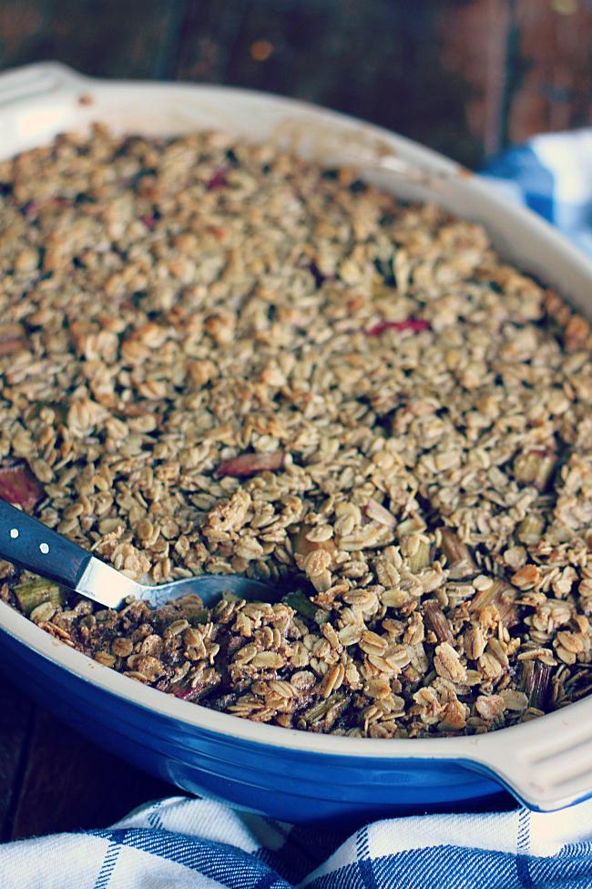 Rhubarb Baked Oatmeal