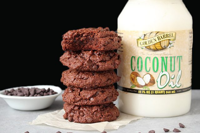 Paleo Double Chocolate Cookies made with Golden Barrel Coconut Oil