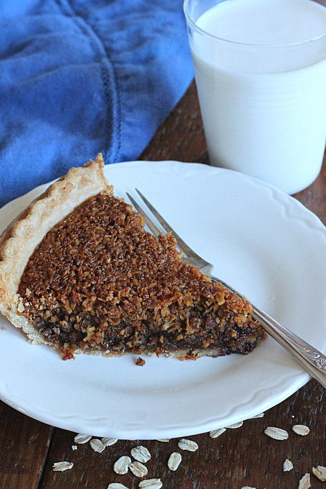 Oatmeal Pie made with Golden Barrel Supreme Baking Molasses