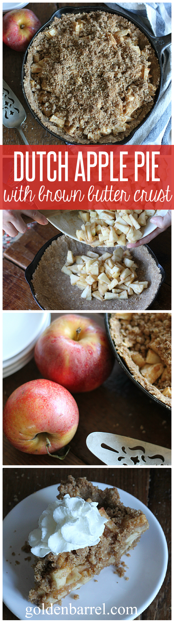 Dutch Apple Pie with Brown Butter Crust - Golden Barrel