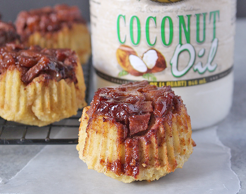 Paleo Apple Cinnamon Upside Down Muffins