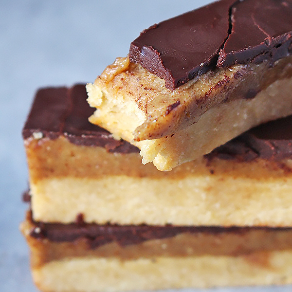 Homemade Twix Bars - Golden Barrel