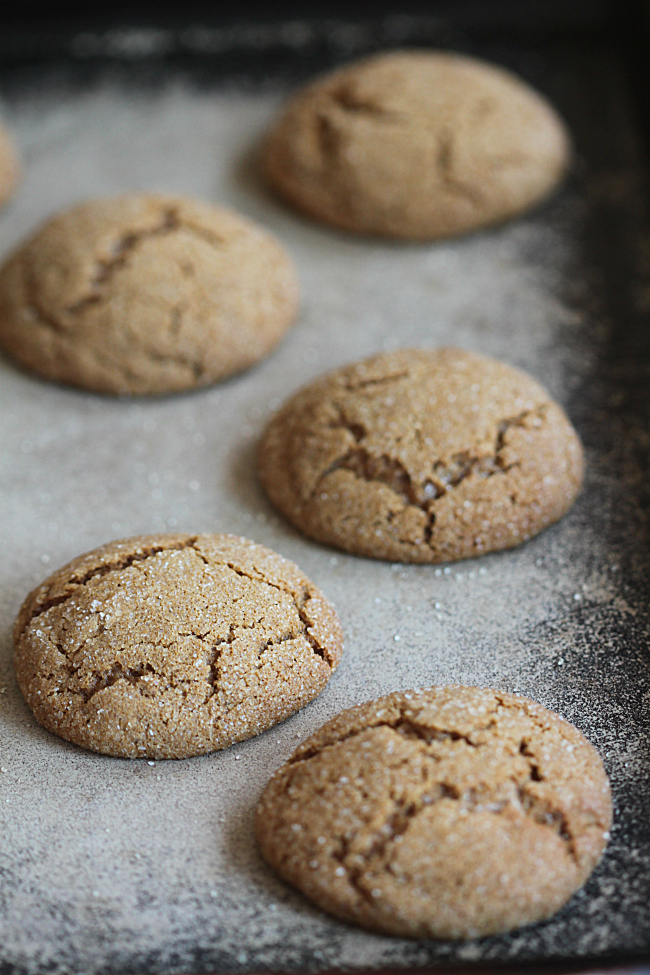 Molasses Cookies Baking on a Stone