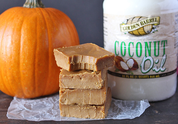 Pumpkin Coconut Oil Fudge