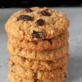 Coconut Oil No Oatmeal Raisin Cookies