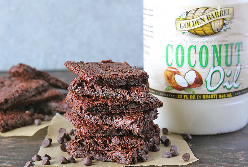 Paleo Brownie Brittle Bark with Golden Barrel Coconut Oil