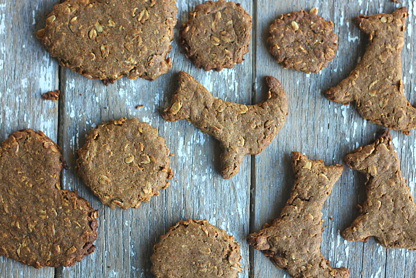 Dog Treats Made with Coconut Oil and Molasses