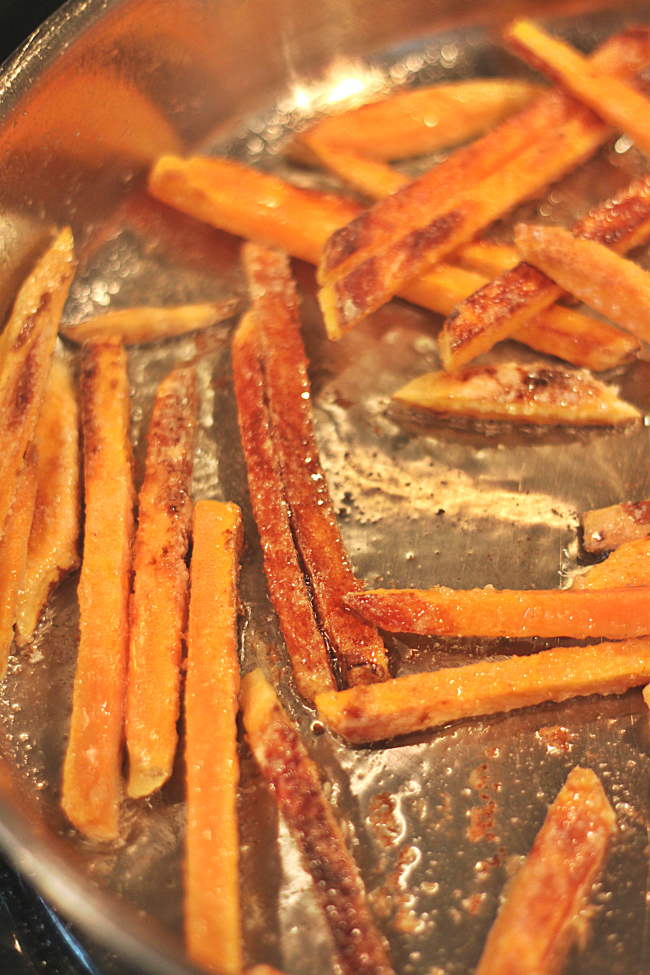 How to make sweet potato fries with coconut oil
