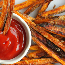 Crispy Sweet Potato Fries made with Coconut Oil