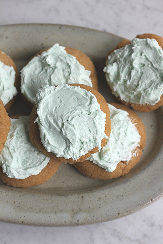 Coconut Oil Sugar Cookies with Buttercream Icing