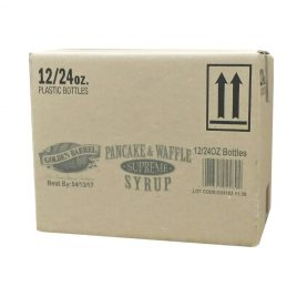 Case of Golden Barrel Supreme Pancake & Waffle Syrup 12/24 oz