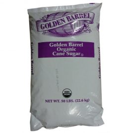 50 lb. Bag of Golden Barrel Organic Cane Sugar