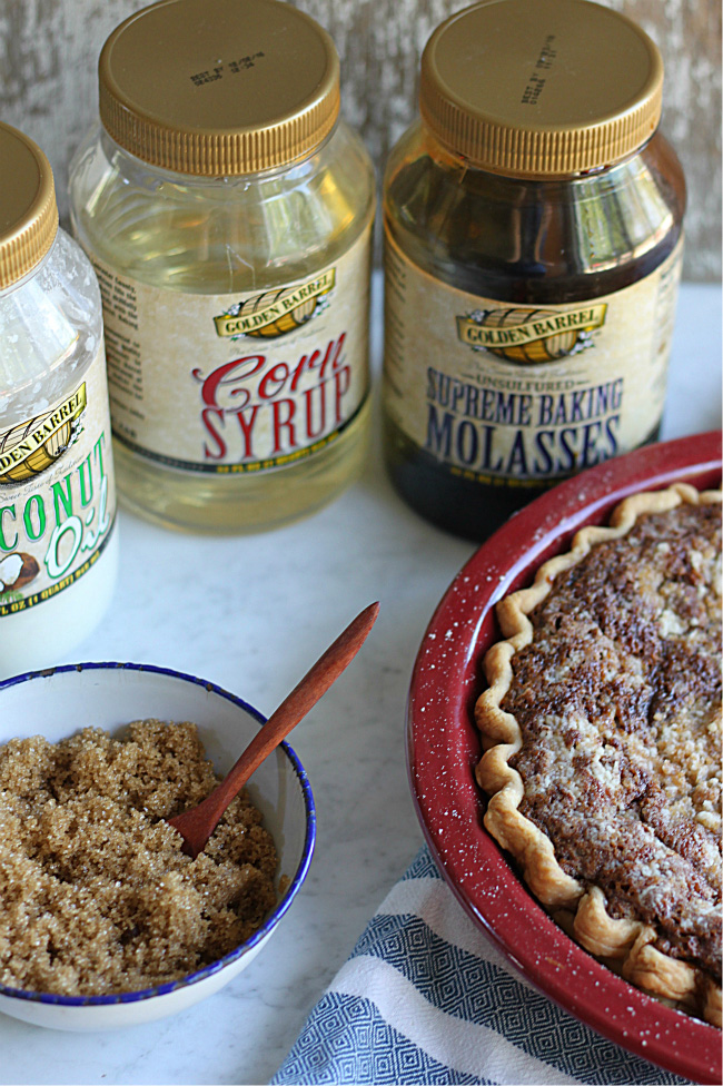 Golden Barrel Ingredients and Pennsylvania Dutch Shoofly Pie