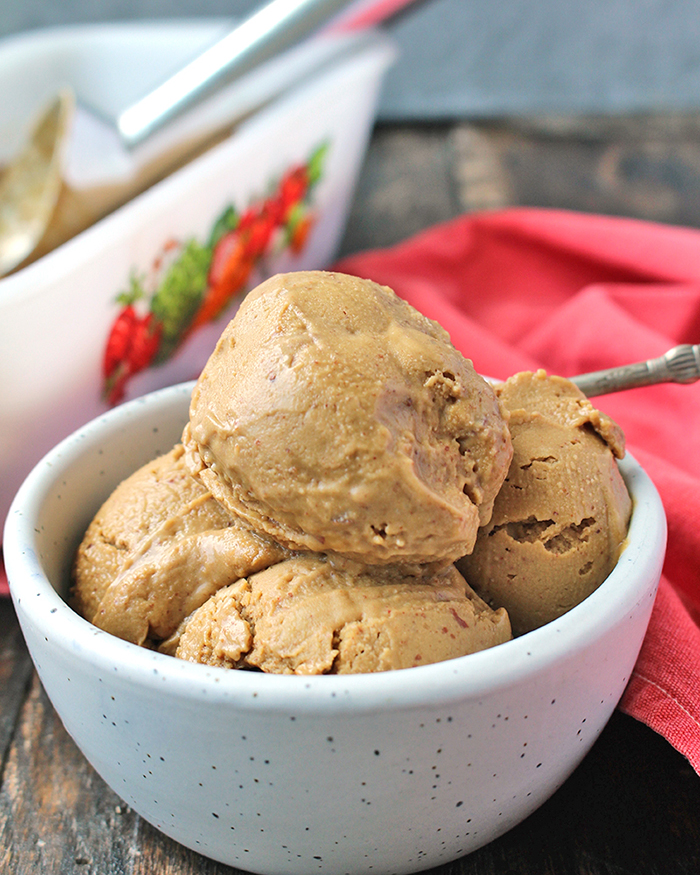 Paleo Almond Butter Molasses Ice Cream
