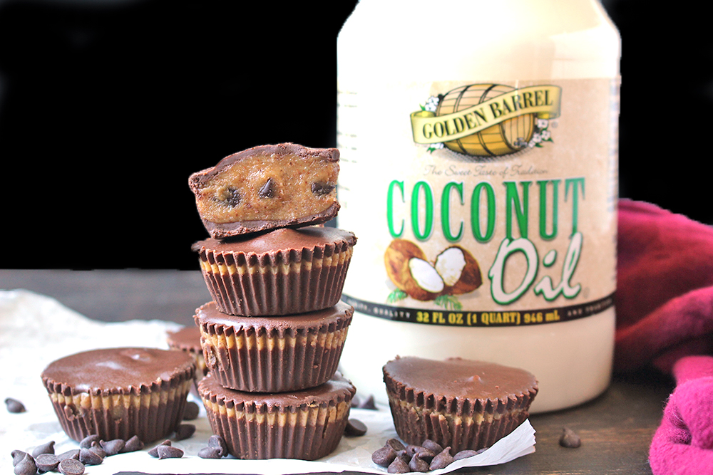 Paleo Cookie Dough Cups with Golden Barrel Coconut Oil