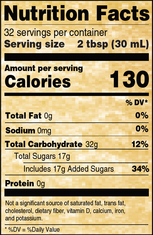 Nutritional Info for Golden Barrel Light Corn Syrup 32 oz.