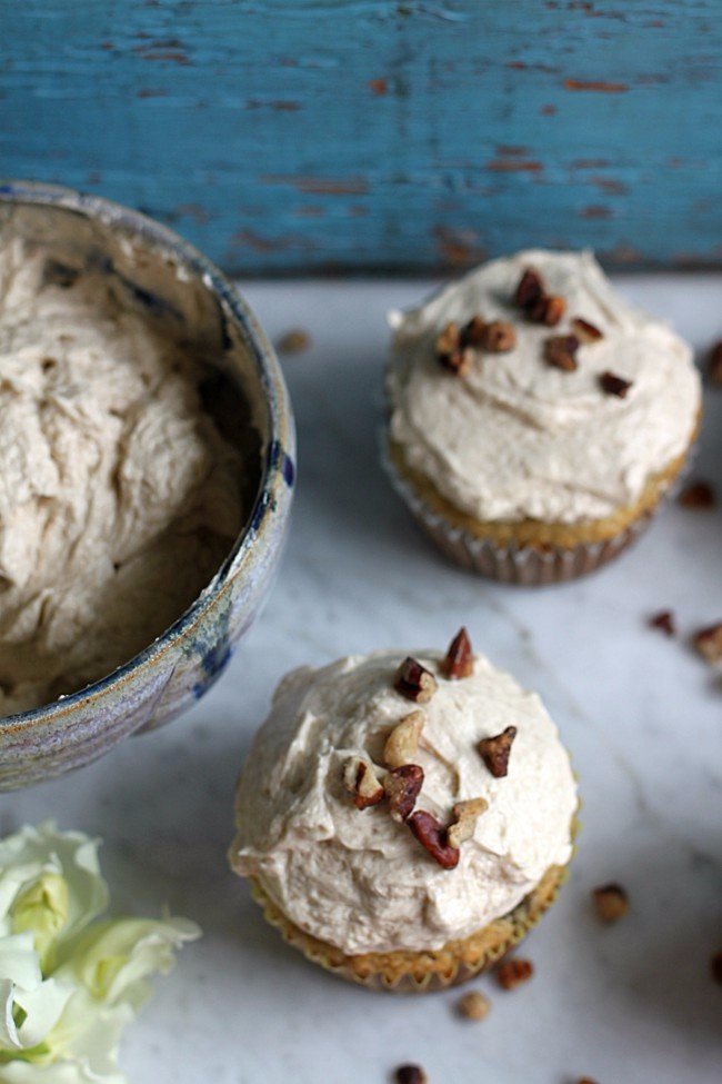 Banana Cupcakes with Brown Sugar Icing