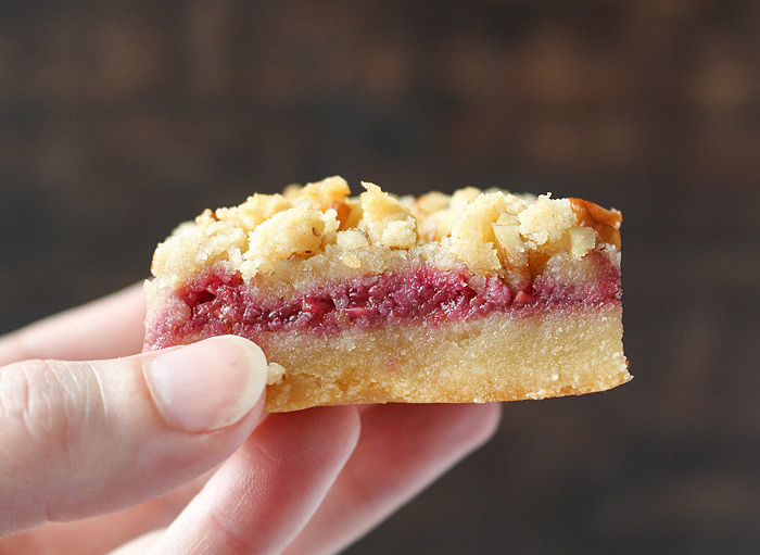 Paleo Raspberry Crumb Bars
