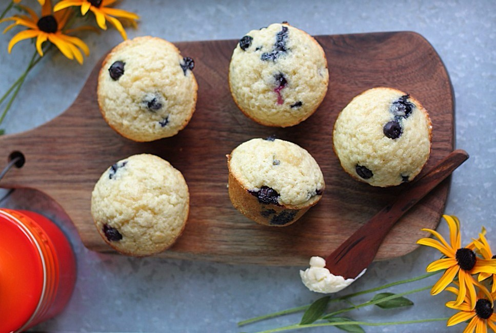 Blueberry Muffins Made with Coconut Oil