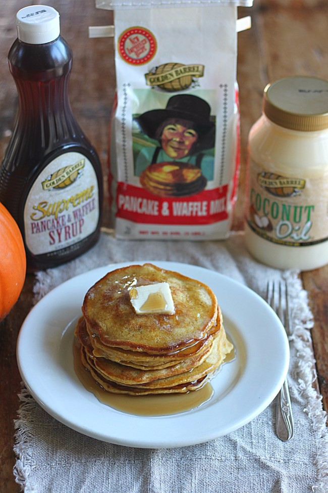 Easy Pumpkin Pancakes (with Golden Barrel Pancake Mix)