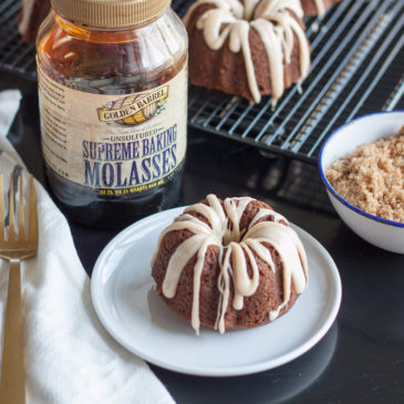Pumpkin Gingerbread Mini Bundt Cakes with Brown Butter Glaze