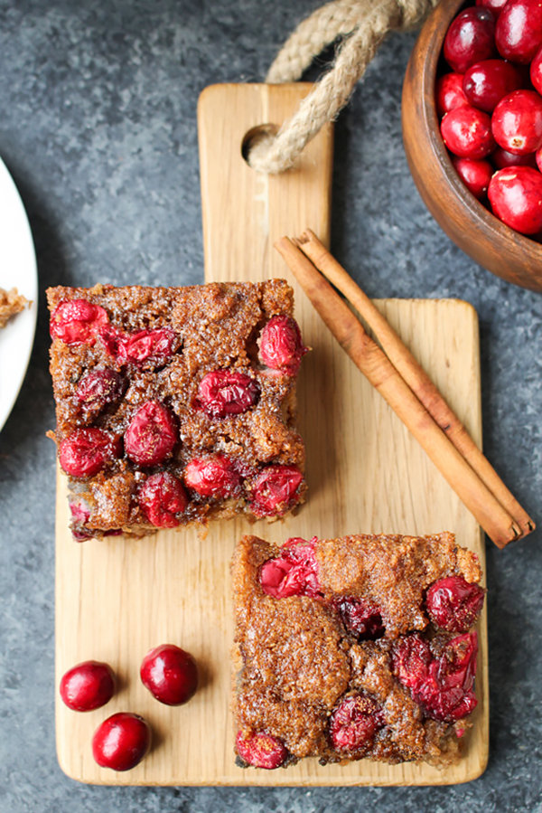 Paleo Cranberry Orange Snack Cake