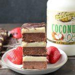 Paleo No-Bake Cheesecake Brownies