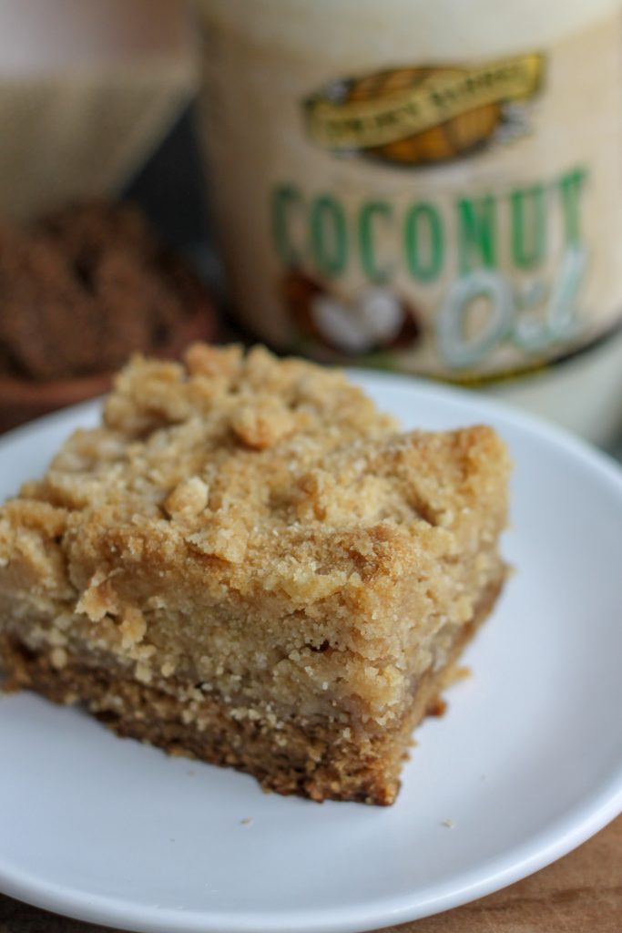 Brown Sugar Sour Cream Crumb Cake with Golden Barrel Coconut Oil