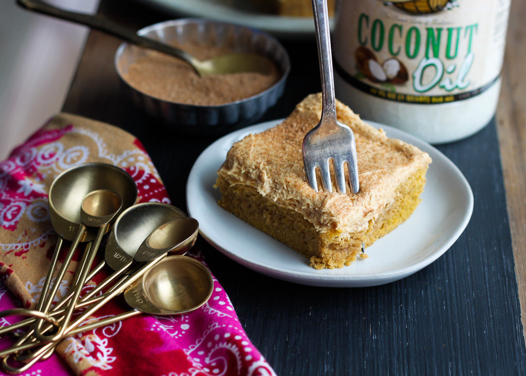 Pumpkin Cinnamon Cookie Bars with Golden Barrel Coconut Oil