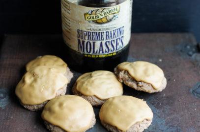 Molasses Iced Oatmeal Cookies