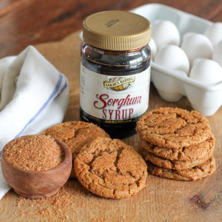 Sorghum Syrup Crinkle Cookies