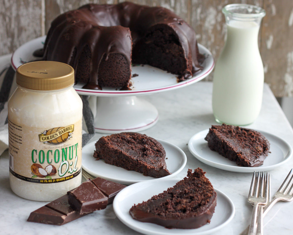 Triple Chocolate Cake with Golden Barrel Coconut Oil