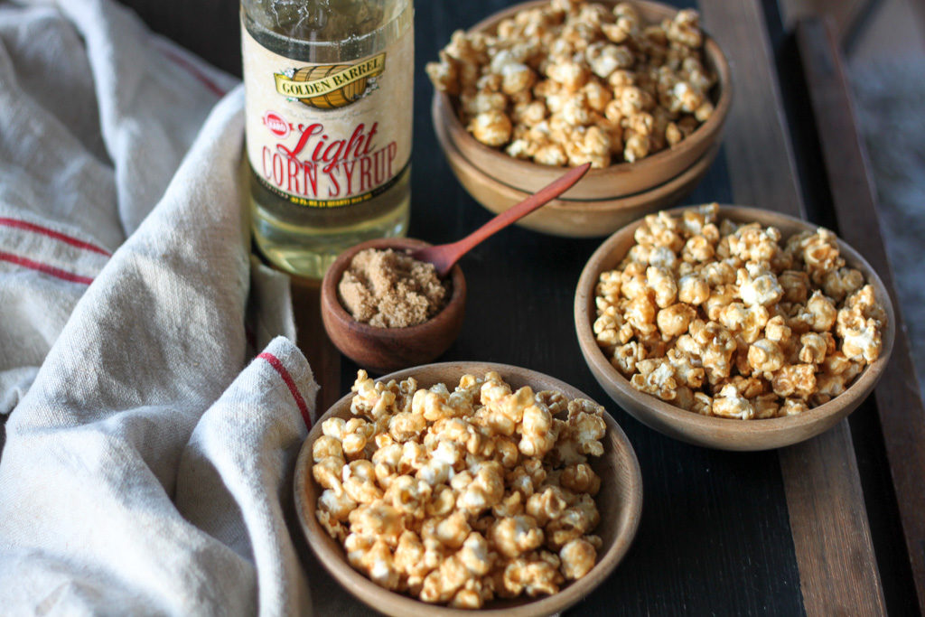 Classic Homemade Caramel Corn with Golden Barrel Light Corn Syrup and Brown Sugar