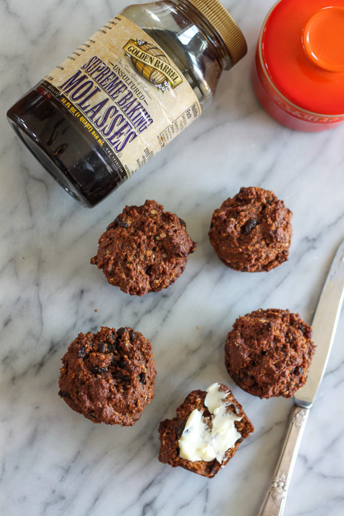 Molasses Raisin Muffins with Golden Barrel Supreme Baking Molasses