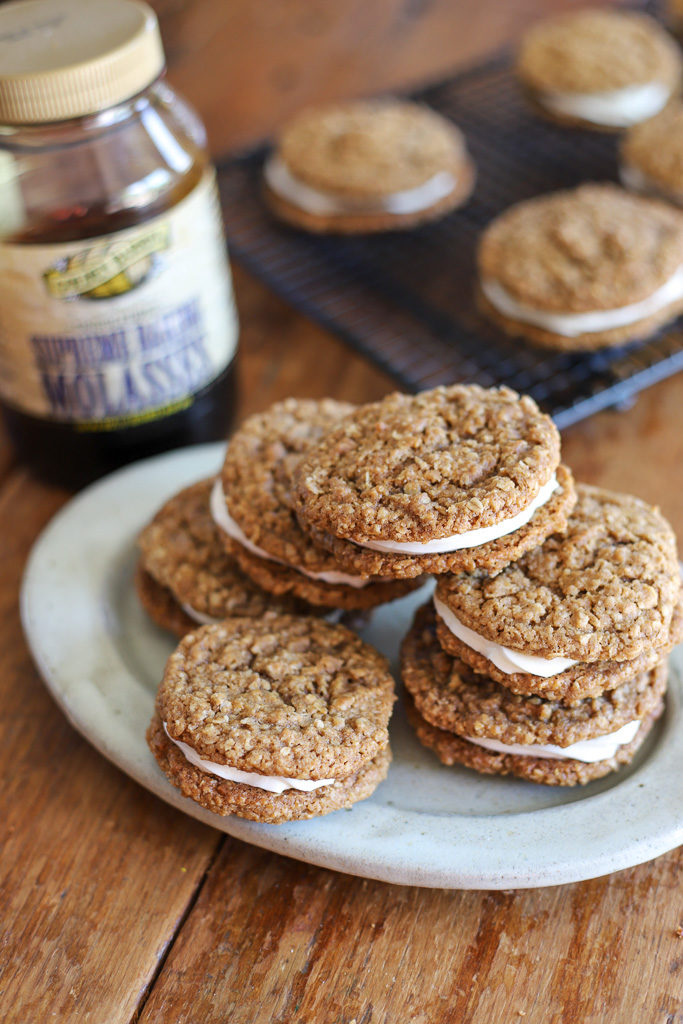 Homemade Oatmeal Cream Pies with Golden Barrel Supreme Baking Molasses