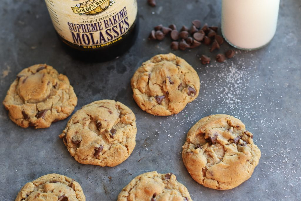 Brown Butter Chocolate Chip Cookies with Golden Barrel Supreme Baking Molasses